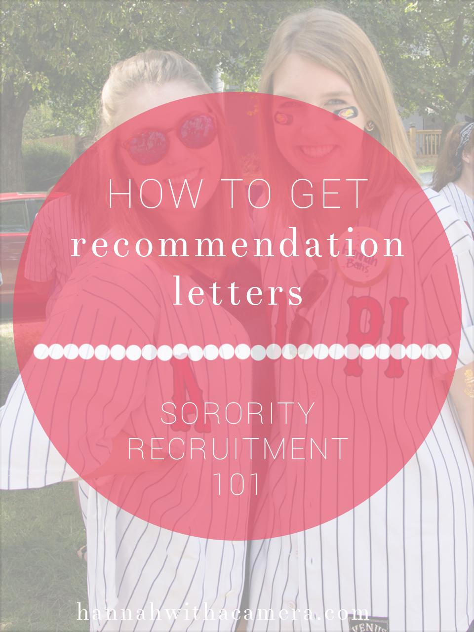 How to get recommendation letters sorority recruitment 101 altavistaventures Images